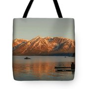 Sunrise Reflections On Colter Bay Tote Bag