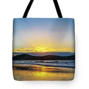 Sunrise Seascape And Crepuscular Rays Tote Bag