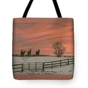 Sunrise Silhouettes Tote Bag