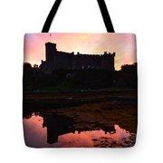 Sunrise Silhouetting Dunvegan Castle S Tote Bag