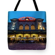 Sunrise Skyline From City Park Tote Bag
