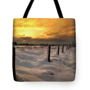 Sunrise Snow Fields Tote Bag