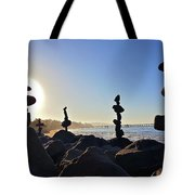 Sunrise Stacks Tote Bag