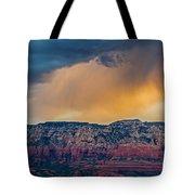 Sunrise Storm Over Sedona Tote Bag