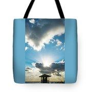 Sunrise Sunburst Lifeguard Station Delray Beach Florida Tote Bag