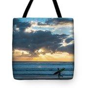 Sunrise Surfer Running Delray Beach Florida Tote Bag