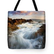 Sunrise Surge Tote Bag by Mike  Dawson