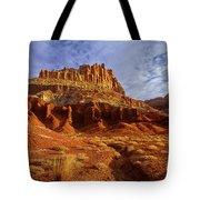 Sunrise The Castle Capitol Reef National Park Utah Tote Bag