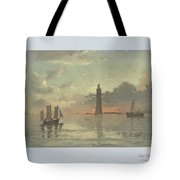 Sunrise To Painting By Frederick C. Sorensen, Anonymous, After Carl Frederik Sorensen, 1868 - 1876 Tote Bag