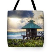 Sunrise Tower At The Beach Tote Bag