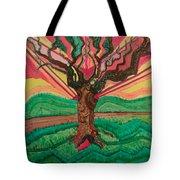 Sunrise Treeair Tote Bag