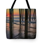 Sunrise Under The Pier Tote Bag