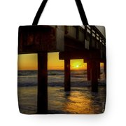 Sunrise Under The Pier  Tote Bag