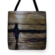 Sunrise Walk In The Sea Tote Bag