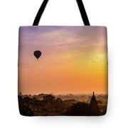 Sunrise With Balloons Tote Bag