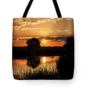 Sunrise's Crepuscular Rays Tote Bag