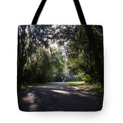 Sunrise,trees And Shadows Tote Bag