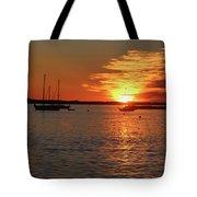Sun's Up Provincetown Pier 3 Tote Bag