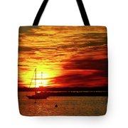 Sun's Up Provincetown Pier 4 Tote Bag