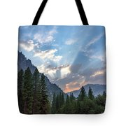 Sunset 1 Yosemite  Tote Bag