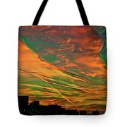 Sunset Above City After A Thunder-storm Tote Bag