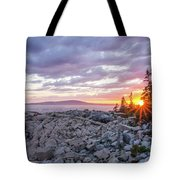 Sunset Acdia National Park  Tote Bag