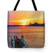 Sunset Across The Chesapeake Tote Bag