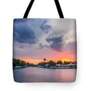 Sunset Across The Gulf Stream Tote Bag