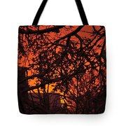Sunset After The Snow Storm Tote Bag