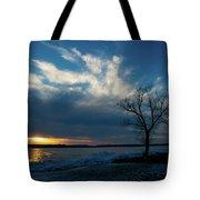 Sunset Along The Mississippi River Tote Bag