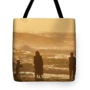 Sunset Along The Ocean East Of The City Tote Bag