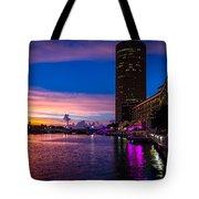 Sunset Along The Riverwalk Tote Bag