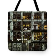 Sunset And Broken Glass The Fort William Starch Company Tote Bag