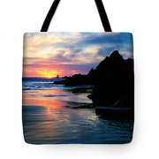 Sunset And Clouds Over Crescent Beach Tote Bag