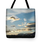 Sunset And Iridescent Cloud Tote Bag