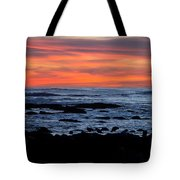 Sunset And Rocks Tote Bag