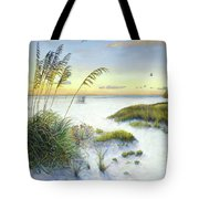 Sunset And Sea Oats At Siesta Key Public Beach Tote Bag