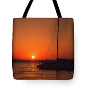 Sunset And Silhouette Tote Bag