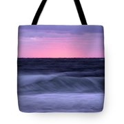 Sunset And Storm Surf On The Gulf Tote Bag