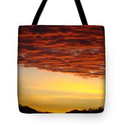 Sunset Art Prints Canvas Orange Clouds Twilight Sky Baslee Troutman Tote Bag