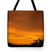 Sunset Art Prints Orange Glowing Western Sunset Baslee Troutman Tote Bag