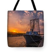 Sunset At Alviso Tote Bag
