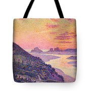 Sunset At Ambleteuse Pas-de-calais Tote Bag by Theo van Rysselberghe