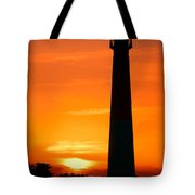 Sunset At Barnegat Lighthouse Tote Bag