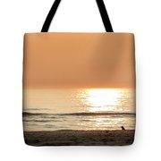 Sunset At Beach Tote Bag
