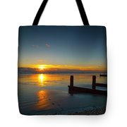 Sunset At Brackesham Bay ,west Sussex ,england  Tote Bag