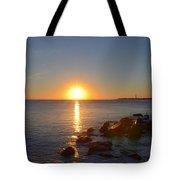 Sunset At Cape May Beach Tote Bag