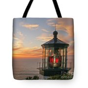 Sunset At Cape Meares Tote Bag