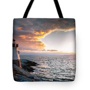 Sunset At Castle Hill Tote Bag