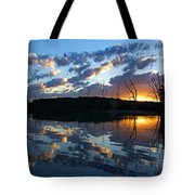 Sunset At Chester Lake Tote Bag